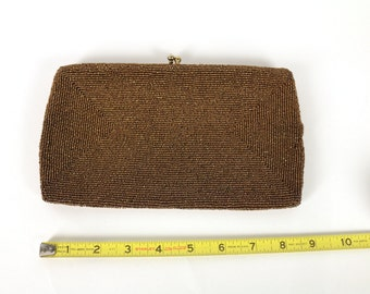 Richere Gold Beaded Purse with original Mirror. As mysterious as you.