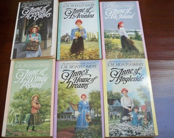 Vintage Fiction Book Set Anne of Green Gables Six Books