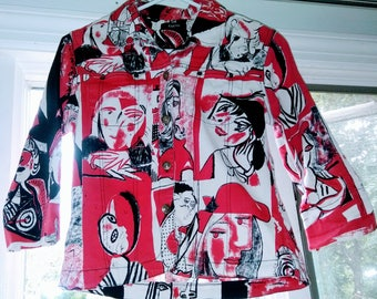 Vintage Picasso Faces Visage Shirt