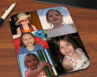 Photo Collage Mouse Pad Personalized with Five of Your Favorite Photos