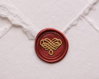 Fancy Heart Wax Seal | Abstract Design Wax Seal Stamp