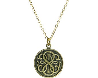 Path of Life Coin Gold Necklace