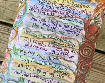 Earthprayer Poster (earth-based poem prayer, woodspriestess, nature, gaia, gaian, goddess, thealogy, ecofeminism, mother earth)