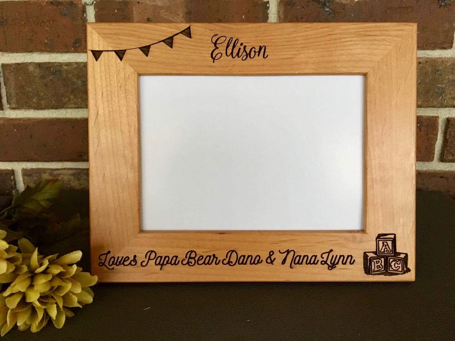 Newborn Picture Frame, Baby Picture Frame, Engraved Baby Frame, Baby ...