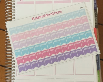 Yoga Pastel Page Flag Sticker Sheet - S130