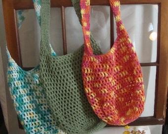 Crochet Market Bag - Market Bag - Market Tote - Crochet Market Tote - Eco Friendly Cotton Market Bag - Eco Friendly Market Tote