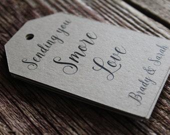 Hochzeit Gunsten Tags, zugunsten s' more Love, MEDIUM, Smore Liebe Tag, Wedding Favor Tag, Hochzeit Tags, Brautdusche Tags, DIY Hochzeit