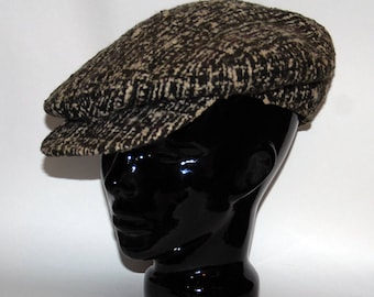 Ca 1930s-'50s era Cooper Brand Winter Tweed Flat Newsboys Cap