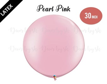30 Inch Giant Balloons, PEARL PINK, Wedding, Graduation, Birthday, Baby Shower, Bridal Shower, Engagement, Photo prop