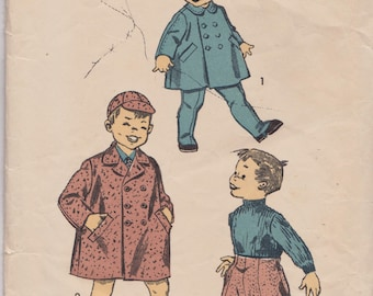 Vintage Sewing Pattern, THEATRE, Advance 7004, 1950s Sewing Pattern, Boys' Coat Pattern, Boys' Trouser Pattern