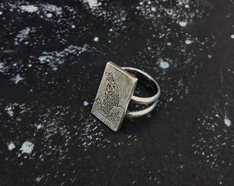 Strength Tarot Card Ring