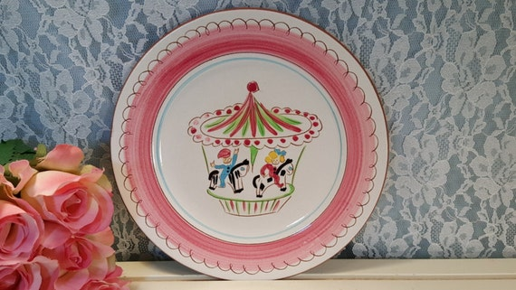 Like this item? & Scarce Stangl Pottery Pink Carousel Kiddieware Merry Go Round
