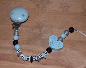 Pacifier clip beads streaked