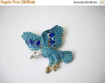 ON SALE Vintage 1950s Over Sized Eagle Sparkling Rhinestones Pin 82117