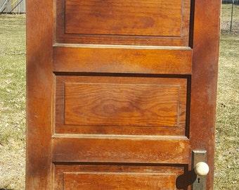 Old Wood Door, Antique, Interior Door, Building Supply, Architectural  Salvaged, Farmhouse, Cottage, Reclaimed, 5 Panel Door, 26 1/2 X 79 AF