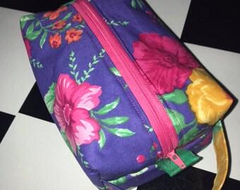 Boxy makeup/toiletry bag
