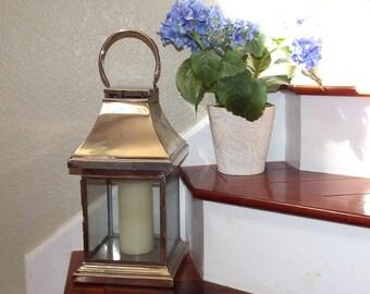 Antique Silver Candle Lantern