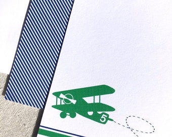 Airplane Personalized Notecards