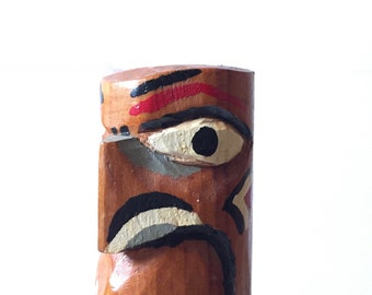 Handcrafted Native American Totem Pole / Hand Carved Totem Pole / Native American Collectible