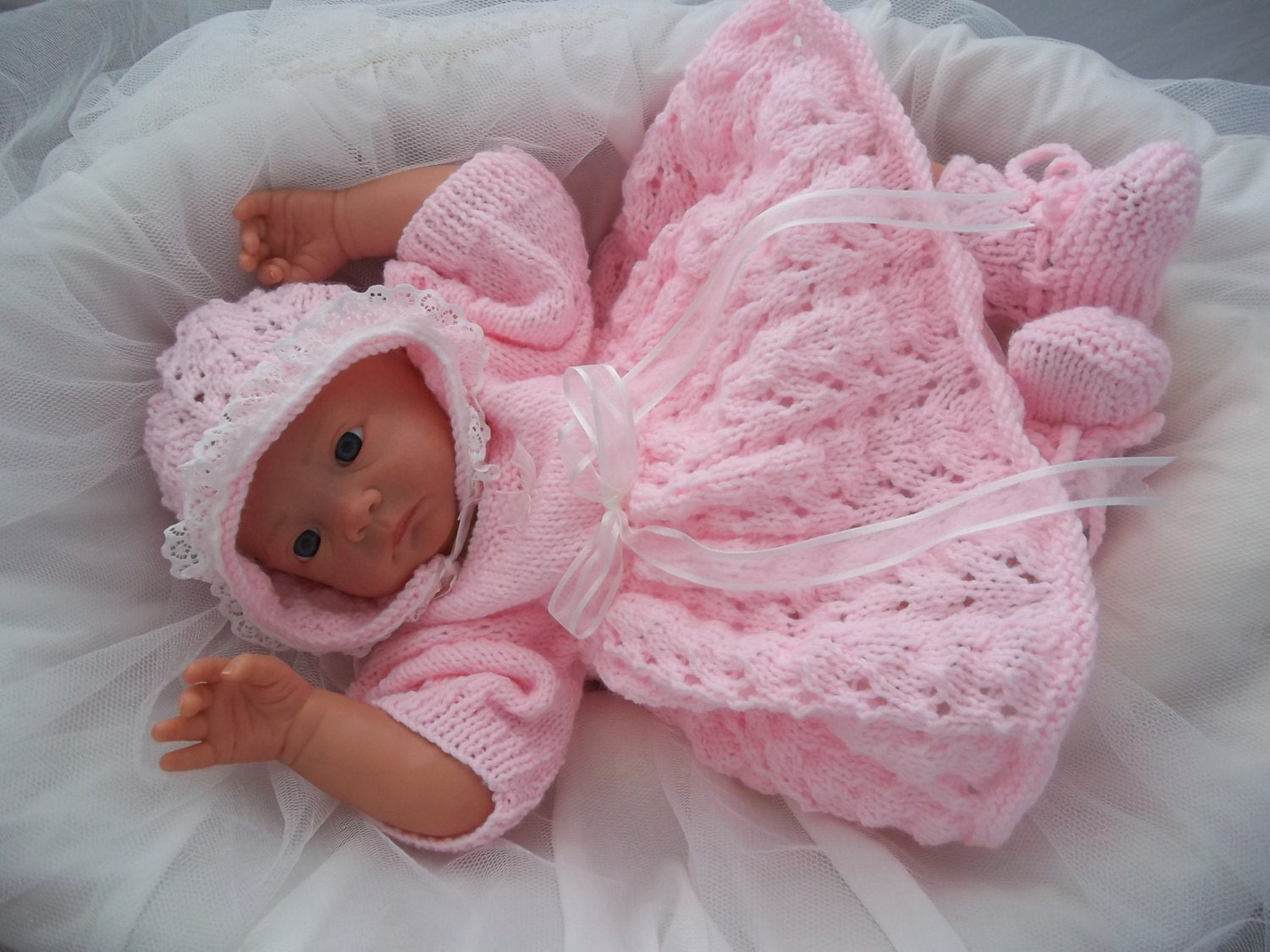 Baby Girls Download PDF Knitting Pattern - Rianna - Knitted Baby ...