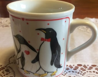 Vintage Ceramic coffee mugs, Penguin coffee mugs, Kitchen and Dining, Kitchen and Serving, Home and Living,