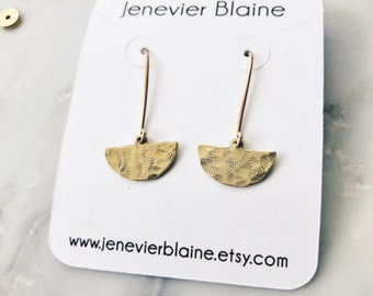 Hammered Scallop Earrings