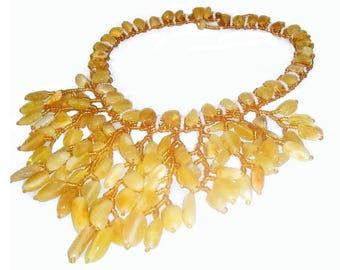 Set White Baltic Amber necklace and bracelet adult Amber jewelry Gemstone Statement stone necklace handmade for bride girlfriend gift woman