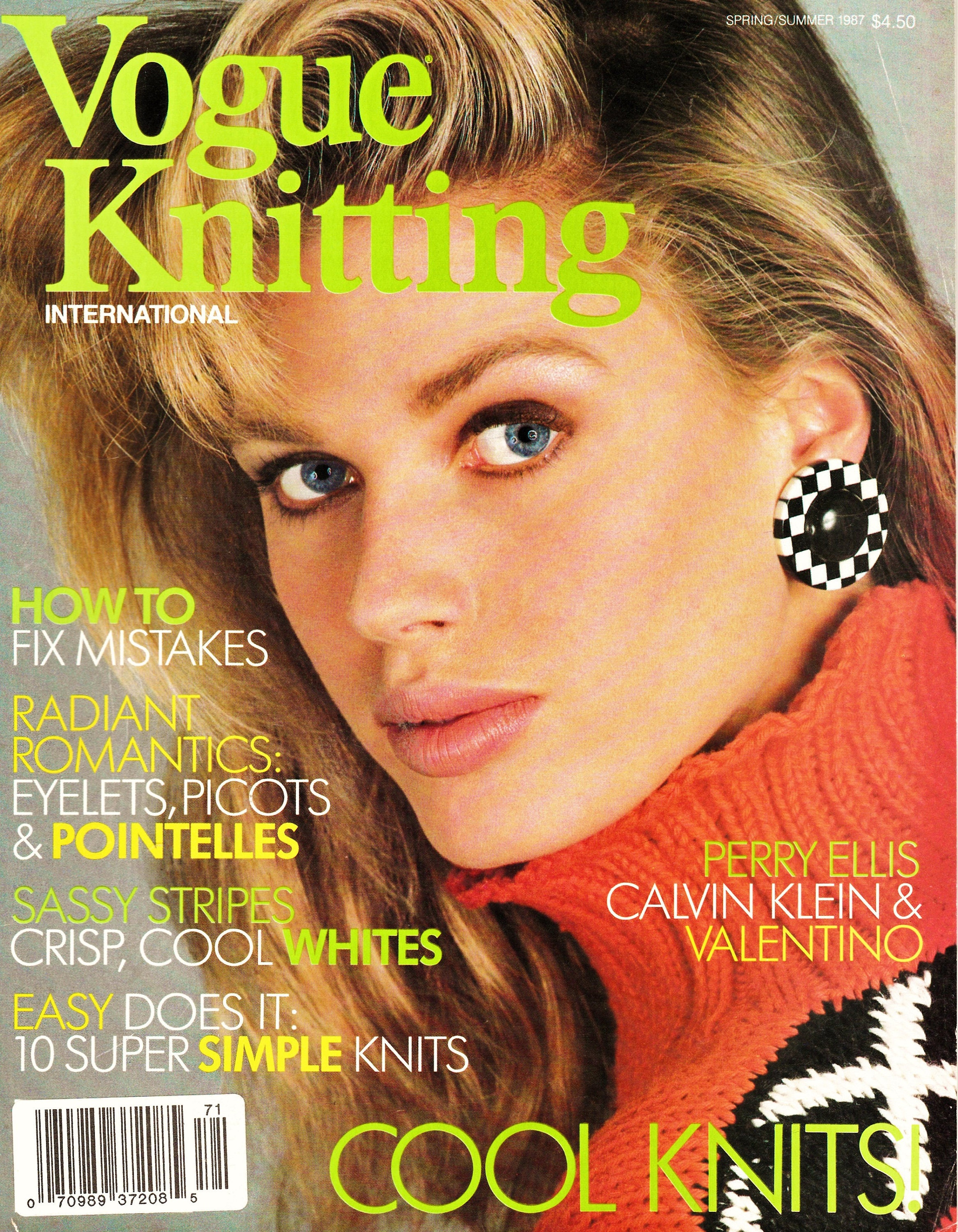 3 Issues Retro 80\'s Vogue Knitting International Magazine Out-of ...