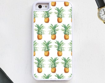 Hawaiian tropical pineapple cartoon fruit designer white CellPhoneCase protective bumper cover iPhone6 iPhone7 Android s5 s6 s7 note4note151