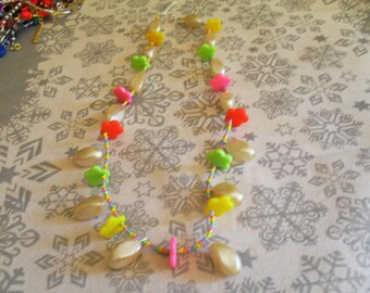 colorful necklace, original (white and multicolor)