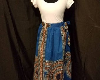African print wrap skirt (Plus size)