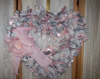 NEW! A love affair with hearts Hand Crafted Wreath