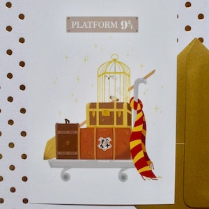 Carte Postale-Harry Potter-Voie 9 3/4
