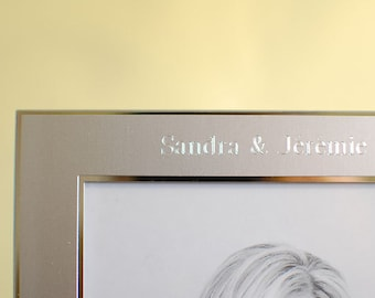Personalized photo frame 5x7 -  Engraved photo frame for wedding, or anniversary gift