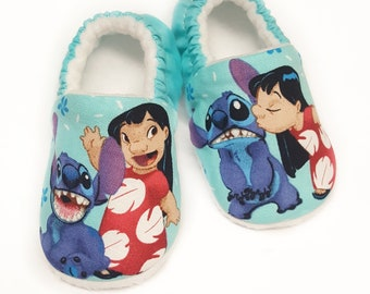 Lilo and Stitch baby slippers,Disney character slippers,lilo and stitch booties,Soft Sole Baby Shoes,Disney Baby booties