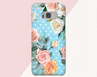 Floral Samsung Galaxy S9 Phone Case, Flowers, Pretty Galaxy S9 Plus, Samsung S9 Case, Galaxy S8, Samsung Galaxy S8 Plus, Case For Galaxy S7