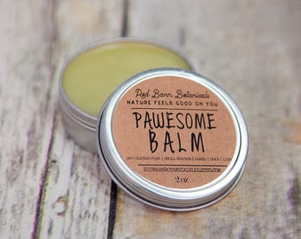 Organic Paw Salve - Pawesome Balm - For dogs and cats, Naturally Protective, Moisturizing, Mothers Day Gift for pets, Pet Stocking Stuffer