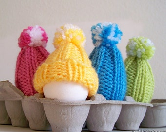 Easter Egg Cozy Knitting Pattern, Easter Patterns, Easter Egg Hat Knitting Pattern, Egg Hat, Egg Cosy, Egg Warmer Beginner Knitting Pattern