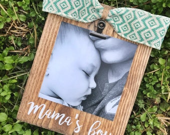 Mama's Boy/ INSTAGRAM PHOTO Frame/ Rustic Stained Picture Frame