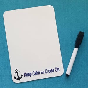 Cruise Memo Board - White Board - Dry Erase Board - Keep Calm and Cruise On  sc 1 st  Etsy & Cruise door magnets | Etsy
