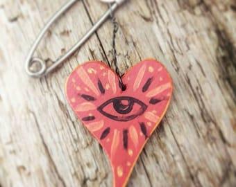 All Seeing Heart Talisman/Brooch
