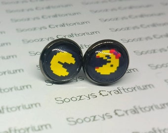 Mr and Mrs Pac-man Earrings