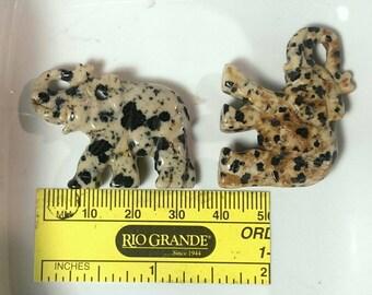 Dalmation Jasper Bead   Focal Bead   Elephant Bead   33-38mm