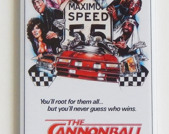 Cannonball Run Movie Poster Fridge Magnet (1.5 x 4.5 inches)