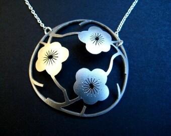 The Three Sakuras  in Sterling Silver