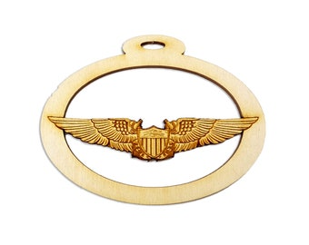 Personalized US Navy Aviator Wings Ornament - US Navy Ornament - US Navy Gifts