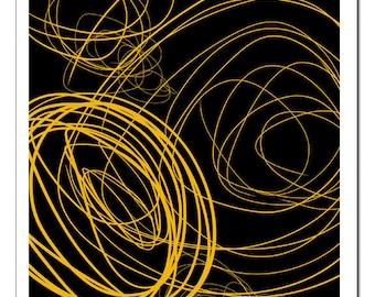 Original Design Illustration Circles-Pop Art Print