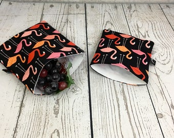 reusable Sandwich Bag and Snack Bag, black and withe Sandwich Bag, Reusable Pouch, Eco-Friendly Bag, Reusable Snack Bag