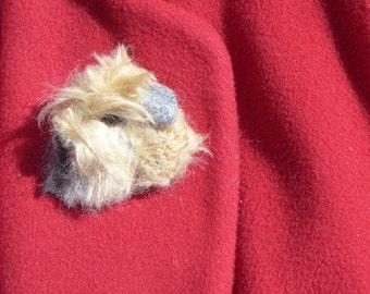 Pet Lover Gift / Custom Dog Pin / Pet Memorial / Needle Felted Pet Portrait / Dog Portrait / example Wheaten Terrier
