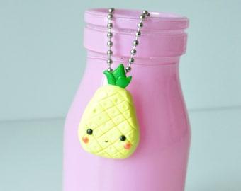 Kawaii Pineapple Keychain